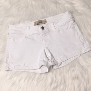 Hollister White Cut Off Jean Shorts Size 3/26